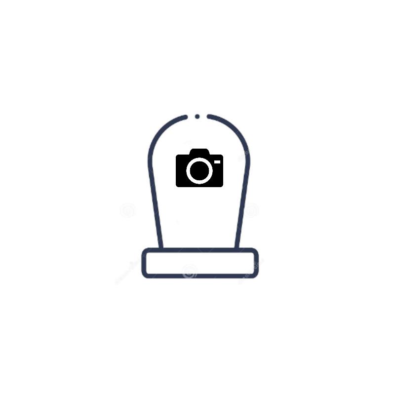 Médaillon funéraire Rond pour tombe et plaque mortuaire