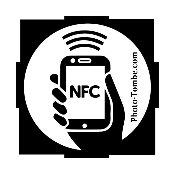 Médaillon funéraire connecté sans contact (NFC)