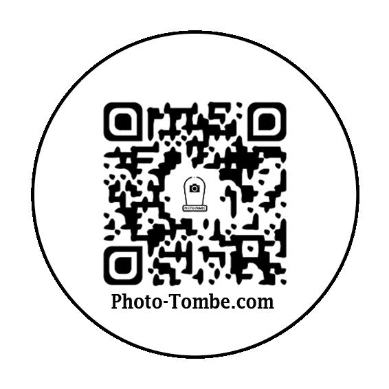 Médaillon funéraire connecté QR code